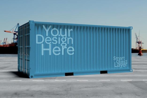 Vista de un contenedor de envío