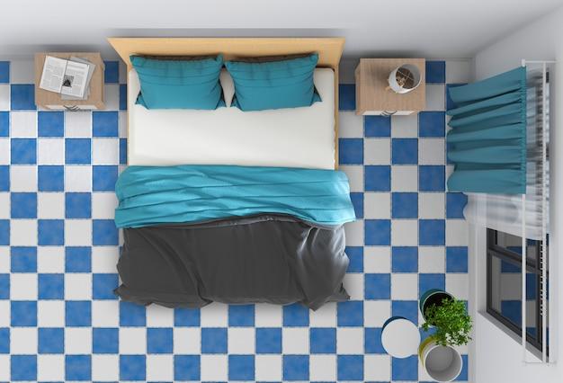 Vista dall'alto della camera da letto interna