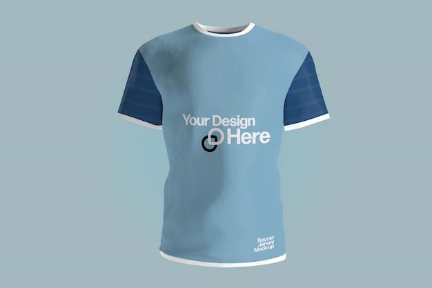 Vista di un modello uniforme della maglia di calcio