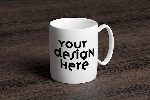 Vista di un mug mockup