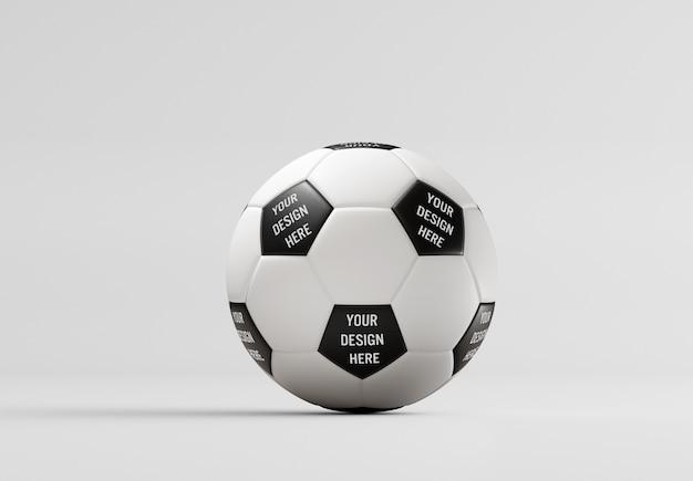 Vista di un pallone da calcio mockup