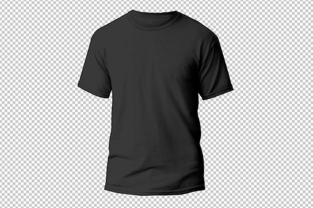 Vista frontal de la camiseta blanca aislada