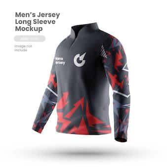 Vista frontal de la maqueta de la camiseta deportiva
