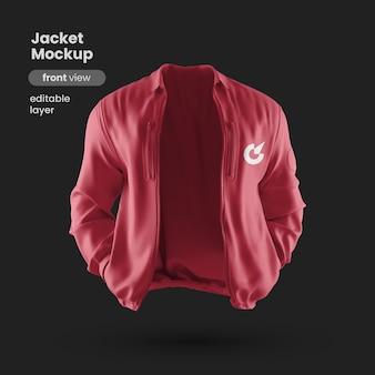 Vista frontal de la maqueta de chaqueta premium