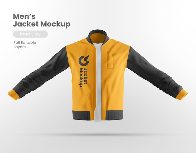 Vista frontal de la maqueta de la chaqueta
