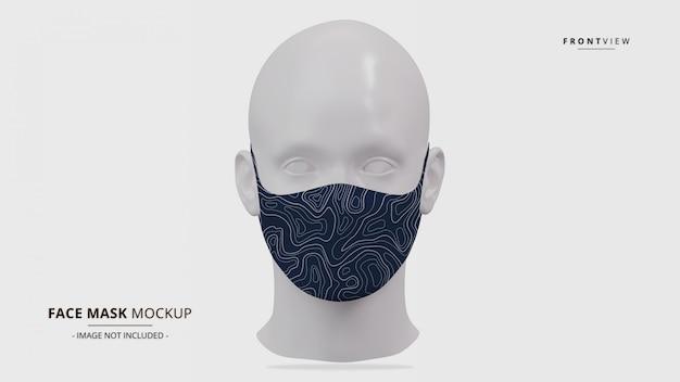 Vista frontal de maqueta de máscara de oreja realista