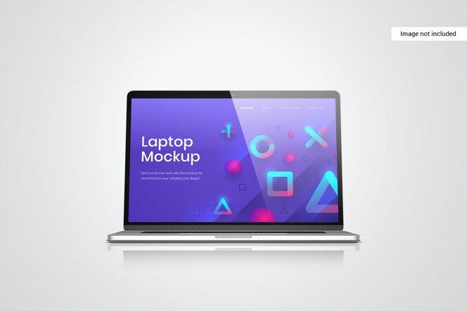 Vista frontal de la maqueta de la pantalla del portátil