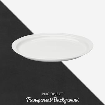 Vista frontal de la maqueta de plato blanco