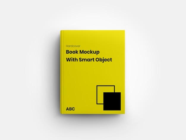 Vista frontale del minimalista libro a copertina rigida mockup