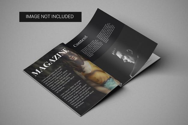 Vista izquierda de la maqueta de la revista a4
