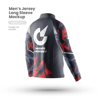 Vista posterior de la maqueta de la camiseta deportiva