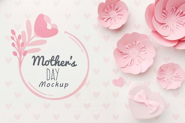Vista superior del concepto del día de las madres
