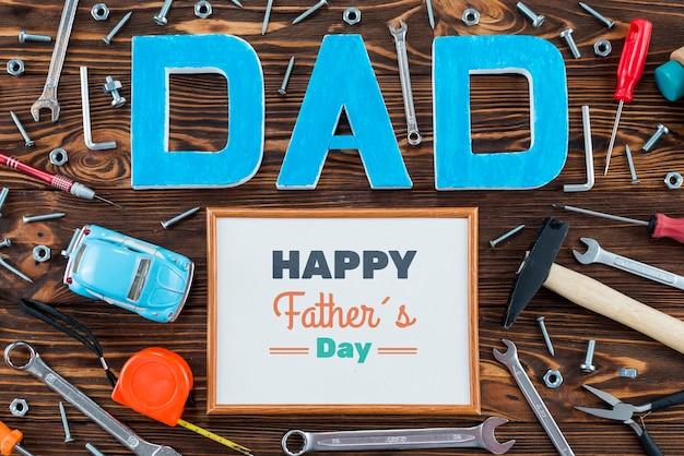 Vista superior del concepto del día del padre