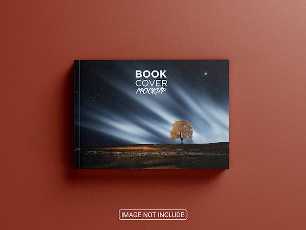 Vista superior de la portada de la maqueta del libro aislado