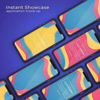 Visualizzazione di applicazioni moderne mock up del telefono