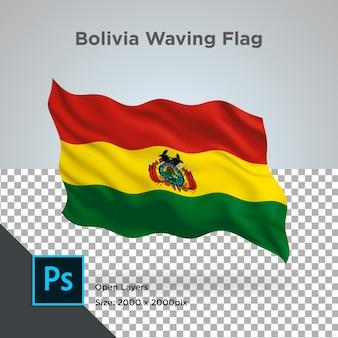 Vlag van bolivia wave transparant psd