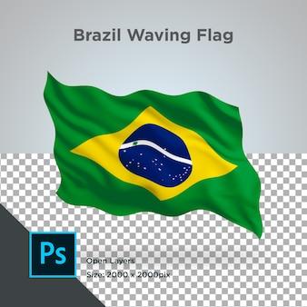 Vlag van brazilië wave transparant psd