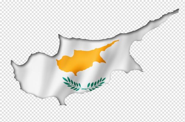 Vlag van cyprus kaart