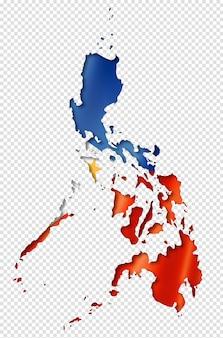 Vlag van de filipijnen kaart