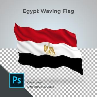Vlag van egypte wave transparant psd