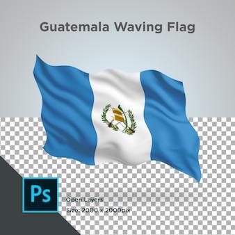 Vlag van guatemala wave transparant psd