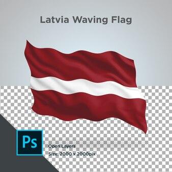 Vlag van letland wave transparant psd