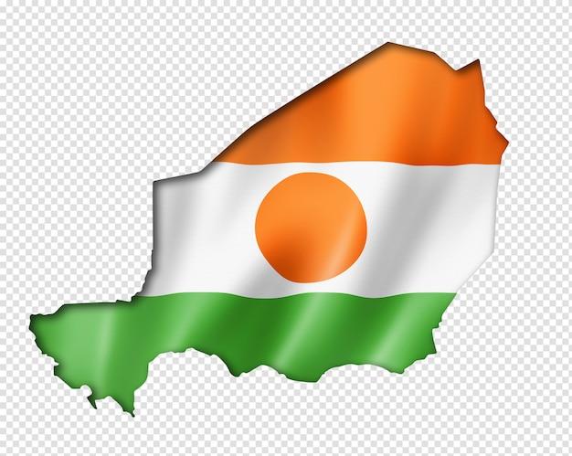 Vlag van niger kaart