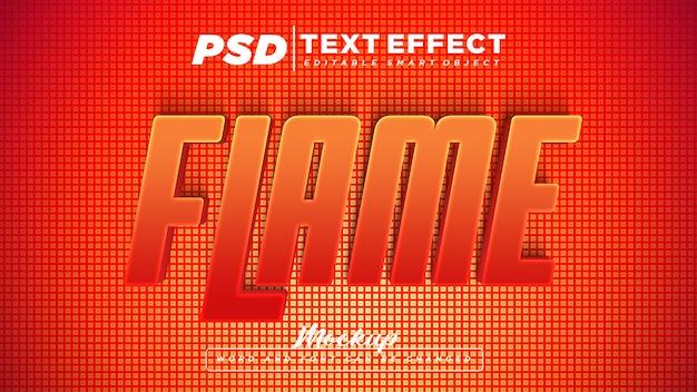 Vlam teksteffect bewerkbare tekst