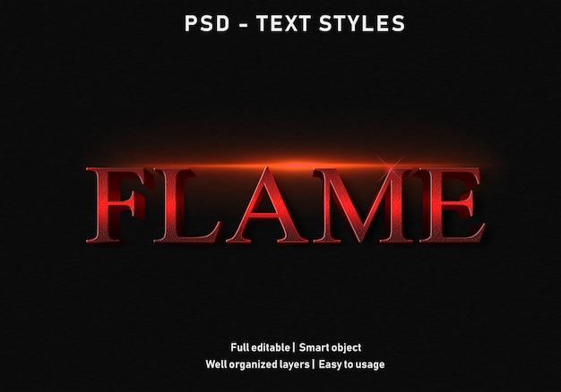 Vlam teksteffect stijl