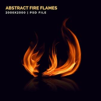 Vlammen effect abstracte brand sjabloon