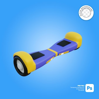 Vliegend hoverboard 3d-object