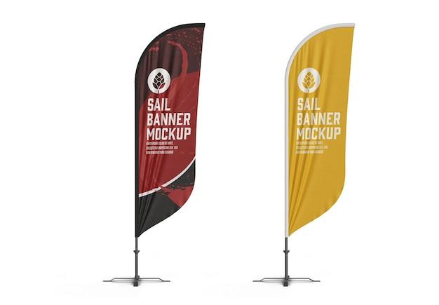Vliegende banner mockup