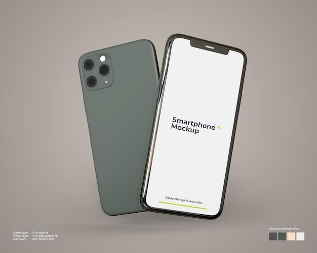 Vliegende smartphone-mockup
