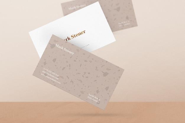 Vliegende visitekaartje mockup