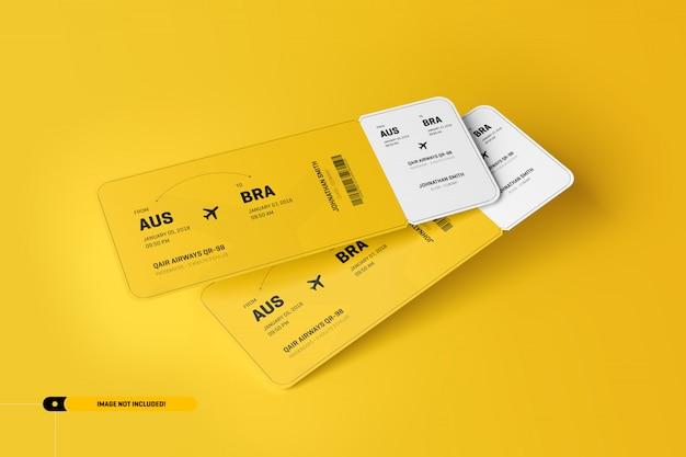 Vliegtuig ticket mockup