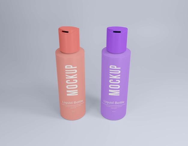Vloeibare fles psd mockup Premium Psd