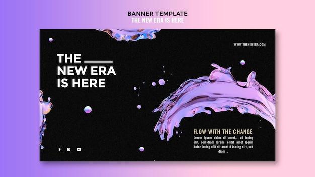 Vloeibare ontwerpsjabloon banner