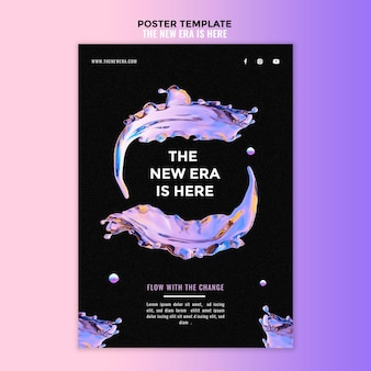 Vloeibare poster ontwerpsjabloon