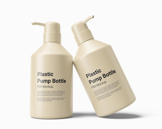 Vloeibare zeep dispenser plastic fles met pompmodel
