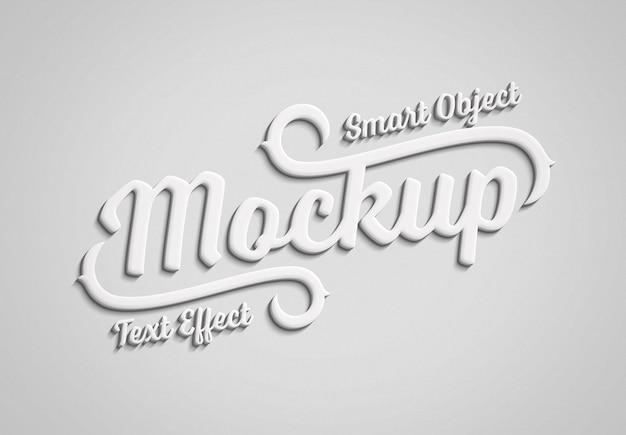 Vloeiend 3d-teksteffect met bewerkbare kleur