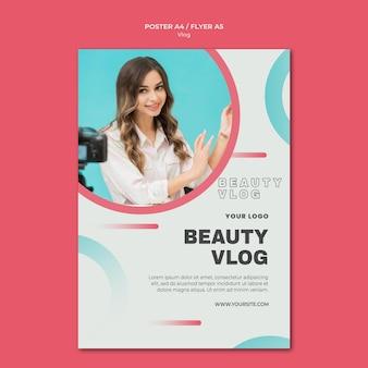 Vlog concept flyer sjabloon