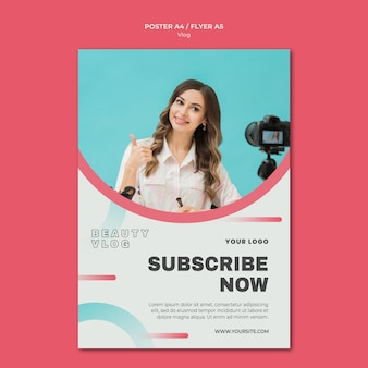 Vlog concept flyer sjabloon