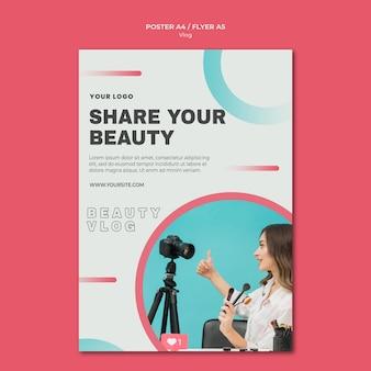 Vlog concept poster sjabloon