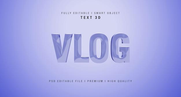 Vlog teksteffect psd-sjabloon