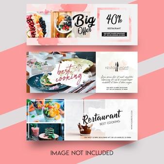 Voedsel banner facebook sjabloon set