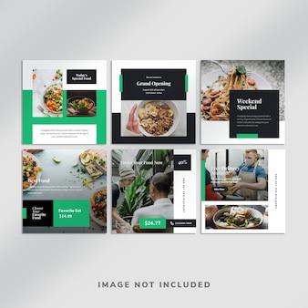 Voedsel instagram post-collectie