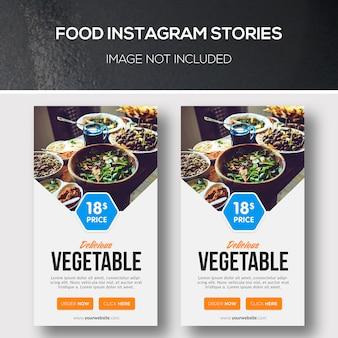 Voedsel instagramverhalen