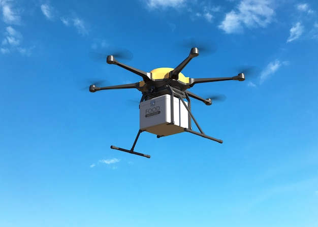 Voedsel levering drone concept