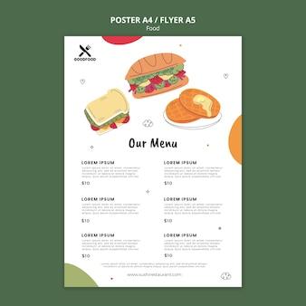 Voedsel menu folder sjabloon