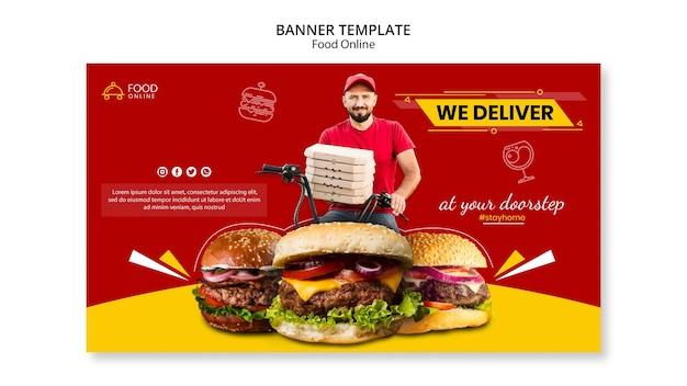 Voedsel online concept banner mock-up